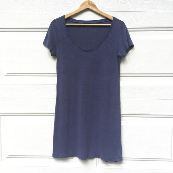 Eileen Fisher Dresses & Skirts - Eileen Fisher T-Shirt Dress Blue Petite Linen Top